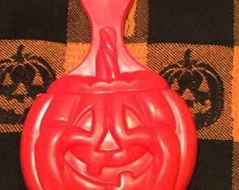 Vintage Halloween Hard Plastic Jack O Lantern Pumpkin Carving Scoop Hard to Find