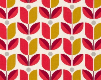 54036 - Joel Dewberry Flora  Tulip in Poppy color - 1/2 yard