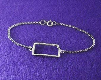 Custom Map Bracelet, Custom Kansas Bracelet, Personalized Map Bracelet, Kansas jewelry,custom map jewelry