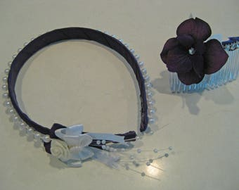 God Loves the Color Purple Wedding Broom Collection: Hair Acessories