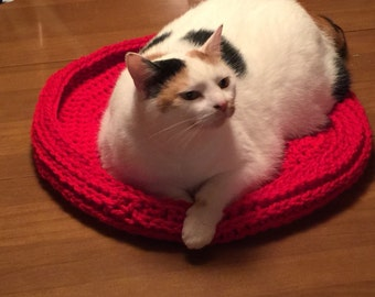 Crochet cat beds custom made in color and size you choose - pet beds