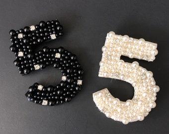 Coco No.5 Brooch,luxury brooch,tweed jacket,CC Style brooch,unique brooch,Runway broche,luxury accessory,pins,coco pins,crystal brooch,Mini