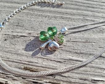Sale shamrock necklace 18