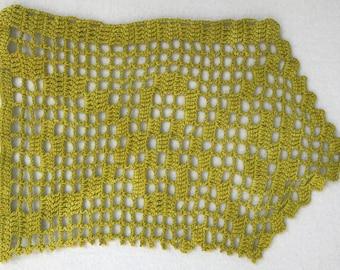 Hand Dyed Filet Crochet