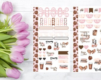 I Love Books Personal Size Planner Sticker Kit