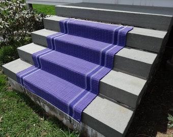 Large Rag Rug in Purple