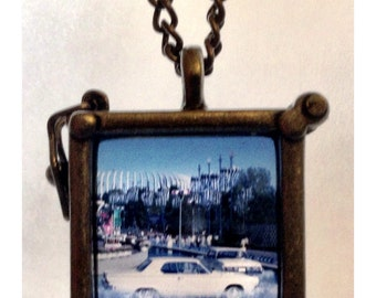 Classic Car, Vintage 35mm slide, Necklace