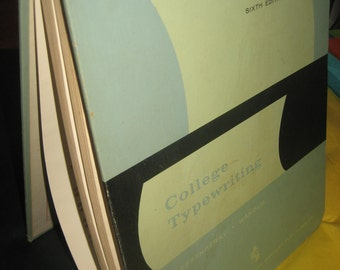 1959 Complete Course College Typewriting 6th Edition