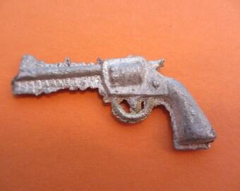 vintage miniature me pistol gun toy gun lead toy vintage wild west toy spaghetti western toy revolver antique lead gun colt 45