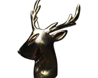 Vintage Kandell And Marcus NY Reindeer Head Brooch/Pin 1940 Gift For Her Gift For Him Sterling Silver Pin Rare