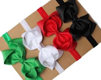 Baby headband set, Christmas gift for baby girls, baby girl headband, gift for baby girl, headdband hair bows, Christmas headband baby