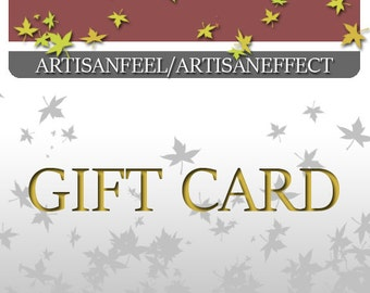 Gift card, Gift certificate, Last minute gift, voucher gift, Xmas gift
