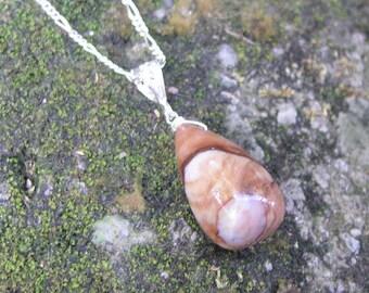 SALE Jasper Teardrop Sterling Silver Pendant (CRP0008)