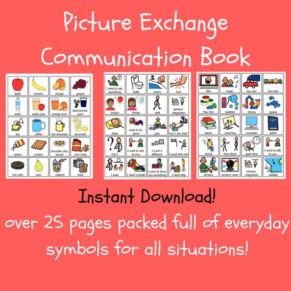 Communication Book Picture Exchange Communication Instant