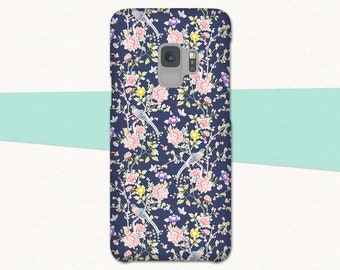 Flower Galaxy S9 Case, Samsung Galaxy S9 Plus Case, Floral S9 Phone Case, Pink Flowers, Pretty Galaxy S9, Case for S9, Galaxy S8, Note 8, S7