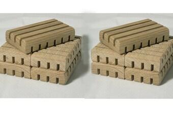White Oak GRANDE Soap Rests (set of 10)