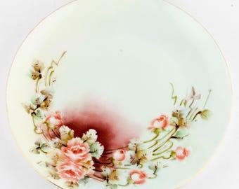 France Limoges BM de M Hand Painted and Signed Dessert Plates 4