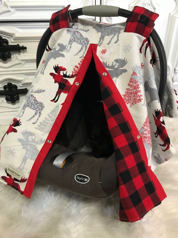 Moose car seat cover / nursing cover / carseat canopy / carseat cover / deer / arrow / boy