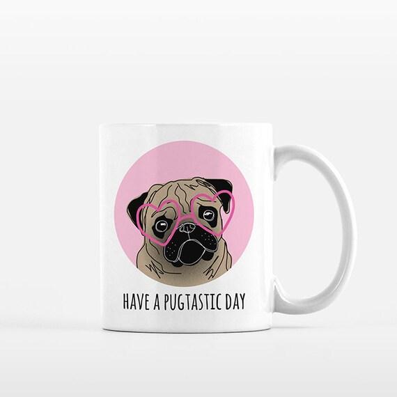 Pug Mug, Pug Gift for Her, Pug Lover Gift, Pug Coffee Mug, Pug Item, Pug Things, Pug Cup, Pug Dog, Cute Mug, Funny Mug, Kids Mug, Office Mug
