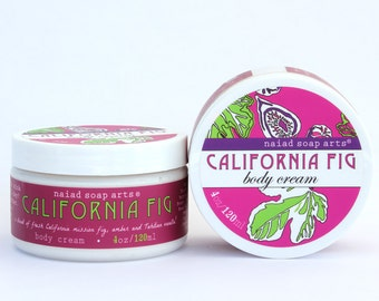 Corps de beurre de karité figue Californie crème - riche en anti-oxydant - végétalien et sans cruauté