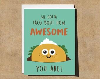 Taco thank you/ appreciation greeting card set of 15