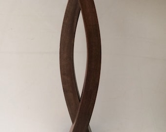 Handcrafted Steam Bent Wooden Lamp