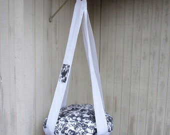 Cat Bed, Black & White Fruit, Single Kitty Cloud Hanging Cat Bed, Pet Furniture, Gift, Cat Tree
