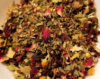 Elm St - Herbal Sleep Tea, Dream Tea, Relaxing Tea, Horror Movie tea, Herbal Tisane, Lemon Balm, Passionflower, Hibiscus
