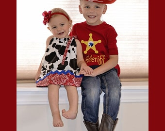 Boys Cowboy Woody Inspired  Shirt sizes 12m-8