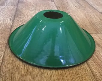 Period Style Enamel Lampshade - Green