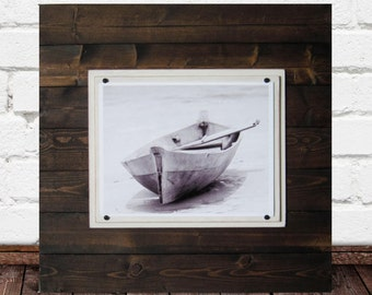11x14 Big Dark Wood Plank Frame 2X2