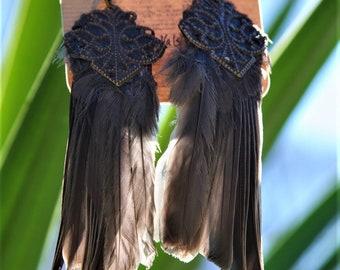 bird wing earrings