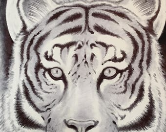 Wildlife; Tiger (ink). Free Shipping!