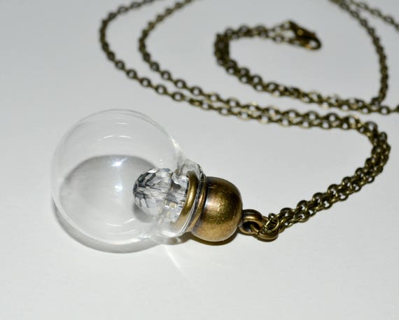 Glass Lightbulb Necklace