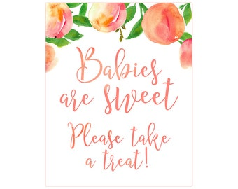 Babies are Sweet Please Take a Treat, Southern baby shower, baby shower favors sign, favor table sign, 8x10 baby shower sign, printable sign