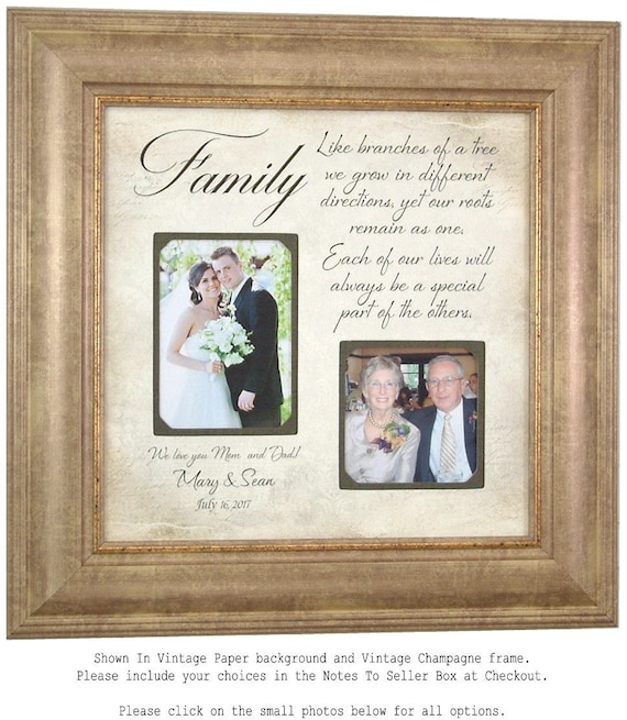 Personalized Wedding Frame, Parents of the Bride Gift, Parents of ...