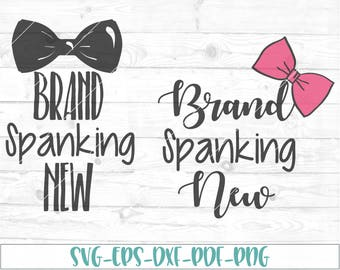 Brand spanking new svg, eps, dxf, png, cricut or cameo, scan N cut, new baby svg, bow svg, baby girl svg, baby boy svg, bow tie svg