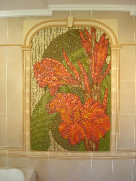 Mosaic art Mosaic wall panel Mosaic mural Extra large wall art