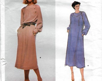 Vogue American Designer 2073 Jerry Silverman Misses Dress Sewing Pattern Size 16 Bust 38