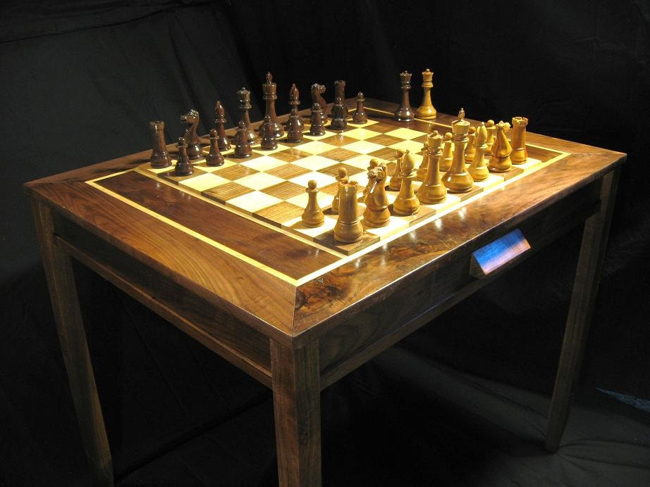 Chess set Handmade Chess Table and Staunton Club Chess