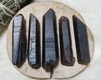 5pc Smoky Quartz Crystal Points, 69g