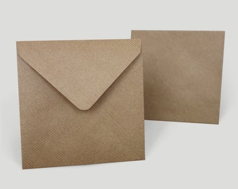 Envelopes Kraft ribbed, 140 x 140 mm