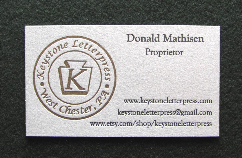 Letterpress Business Card Sample
