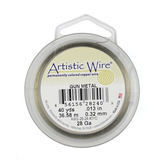 Artistic Wire 28g Antique Brass Wire - 40 Yards of very thin gauge ...