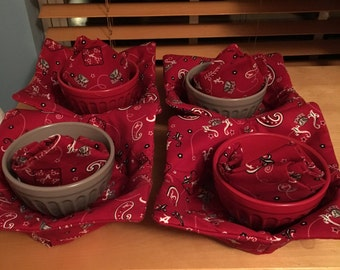 Chili/Soup Bowl Cozy - Cup Cozy and Napkins