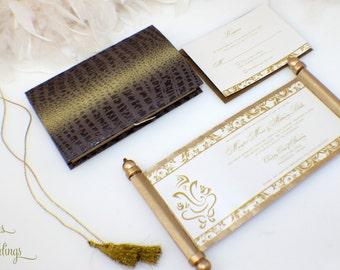 Gorgeous Ganesh Indian Wedding Invitation Scroll 2.0