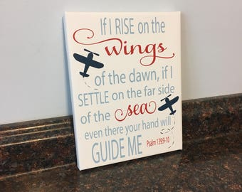airplane nursery airplane wall decor airplane plane decor airplane wall art navigation wall decor airplane psalm 139:9-10 scripture boy room