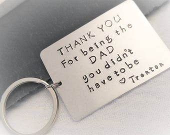 Personalized Stepdad Key Chain