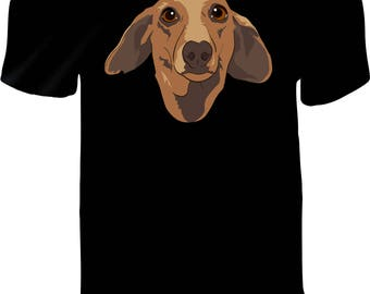 Kamatis the Dachshund CUSTOM PRINTED Vinyl Press T-Shirt - Human T-Shirt - Dachshund Fans - Doxie Fans - Unique Pet Lovers T Shirt