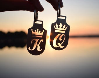 King & Queen keychains